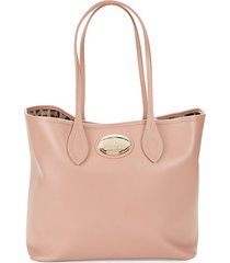 leopard print lined leather tote