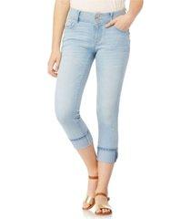 "wallflower luscious curvy 23.5"" roll cuff crop capri jeans"