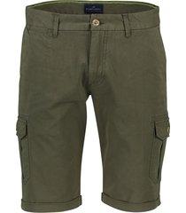 portofino shorts worker olijfgroen flatfront