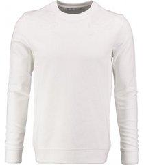 jack & jones zachte (off) witte sweater met borduringen