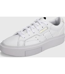 tenis lifestyle blanco adidas originals sleek super,