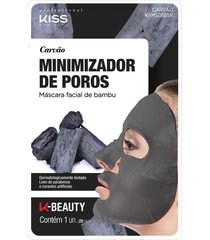 kiss ny professional máscara facial de bambu - carvão único