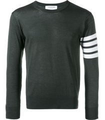 thom browne fine merino wool pullover - green