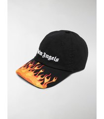 palm angels jacquard flames logo cap