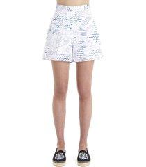 kenzo wave mermaid shorts