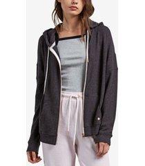 volcom juniors' lil zip fleece zip-up hoodie