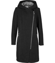 giacca lunga con cerniera asimmetrica (nero) - bpc bonprix collection