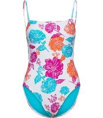 oasis floral square neck maillot baddräkt badkläder multi/mönstrad seafolly