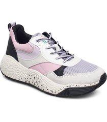 casual shoes textile låga sneakers lila esprit casual