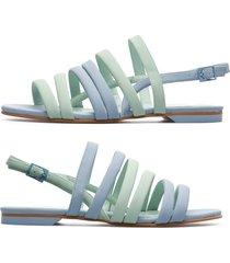 camper twins, sandali donna, blu/verde, misura 41 (eu), k200800-002