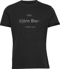 tee art art t-shirts short-sleeved svart björn borg