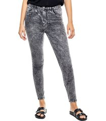 high waist skinny jeans efecto galaxy color blue