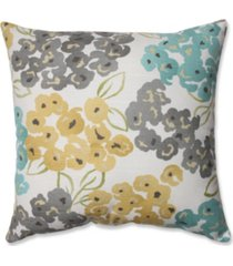 "luxury floral pool 16.5"" throw pillow"
