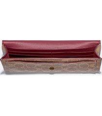 coach women's colorblock signature wyn soft wallet - tan rust