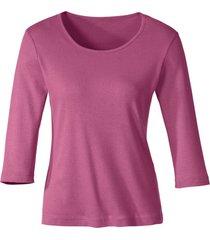 biokatoenen shirt met ronde hals, azalea 44/46