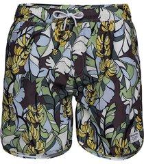 swim shorts banana leaves badshorts grön dedicated