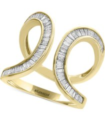 d'oro by effy diamond baguette swirl ring (3/4 ct. t.w.) in 14k gold