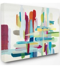 """stupell industries colorful cross hatch abstraction canvas wall art, 24"""" x 30"""""""