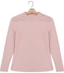 camiseta manga larga palo rosa mng