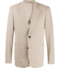 ami paris button-front blazer - neutrals