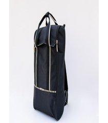 mochila negra matriona matera