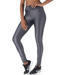calça legging com proteção solar uv oxer essential high - feminina - cinza escuro