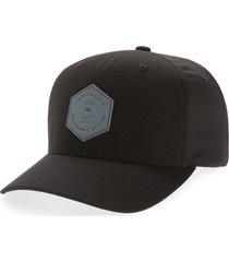 travismathew dopp stretch baseball cap, size small in black at nordstrom