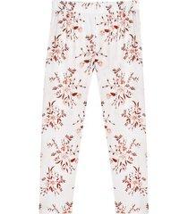pantalón pijama estampado floral color blanco, talla l