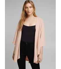 poncho earthcolor® de algodón ecológico rosado esprit