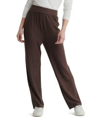 women's lucky brand cloud jersey wide leg pull-on pants, size xx-large - brown