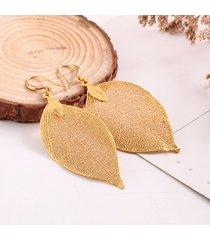 orecchini d'epoca semplice retrò foglie naturali nappa orecchini pendenti per le donne regalo