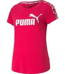 camiseta amplified tee w puma mujer 581218 15 rosa