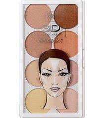 paleta de iluminadora rk by kiss - 3d strobe artist powder highlighter