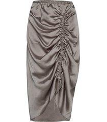 ruched pencil skirt knälång kjol grå designers, remix