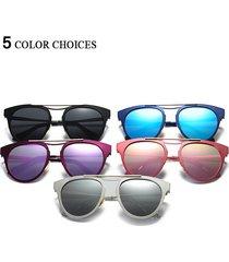 donne fashion polarizzata occhiali luce irregolare gatto occhio colorato occhiali da sole
