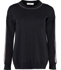 fine knit crew-neck pullover