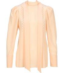 decorative buttoned blouse