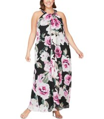 sl fashions plus size embellished halter gown