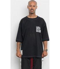 t-shirt black mesh oversize ueg-ss18 giant tee