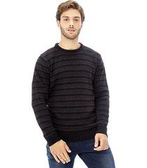 sweater tejido etnico negro negro corona