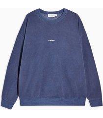 mens navy wash london sweatshirt