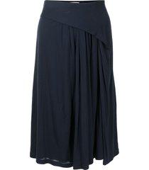 balenciaga pre-owned draped knee-length skirt - blue