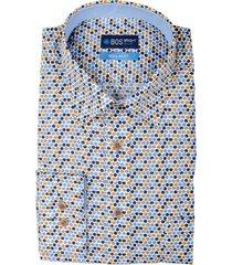 bos bright blue overhemd multicolor katoen 20307wa50bo/500 multicolour