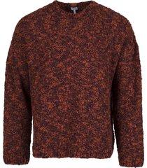 crewneck mélange sweater dark red