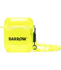 barrow logo-print air pods case - yellow