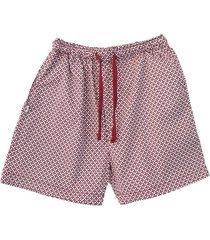 bermuda pijama hombre  cada llama con su pillama  vinotinto y blanco estrella