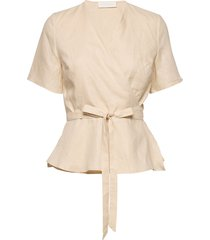 high pressure top linen blouses short-sleeved crème fall winter spring summer