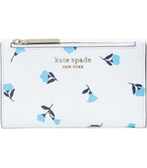 kate spade new york spencer dainty bloom small slim bifold wallet
