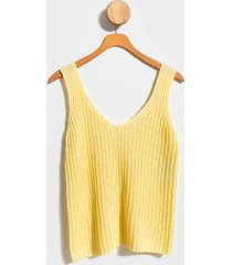 calley v-neck sweater tank top - yellow