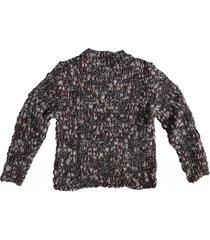 replay dikke trui met glitterdraad